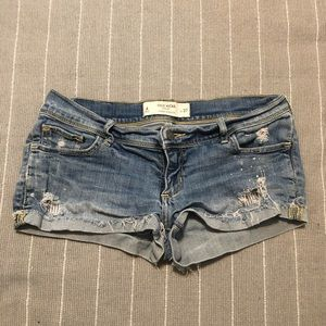 Gilly Hicks cheeky distressed shorts
